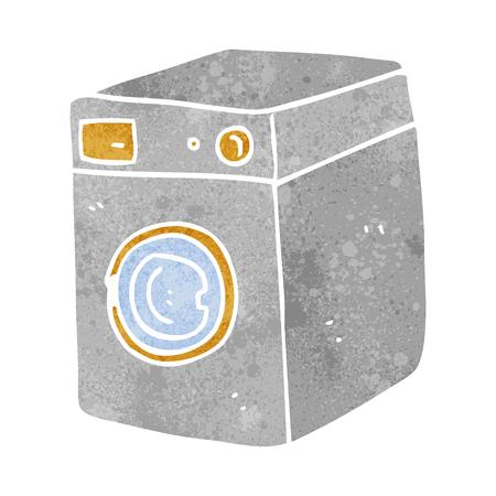 cartoon washing: freehand retro cartoon washing machine Illustration