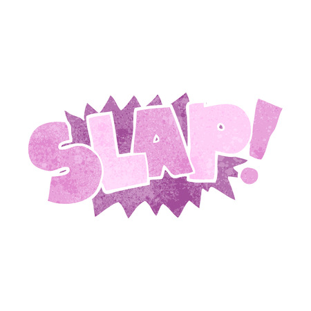 slap: freehand retro cartoon slap symbol