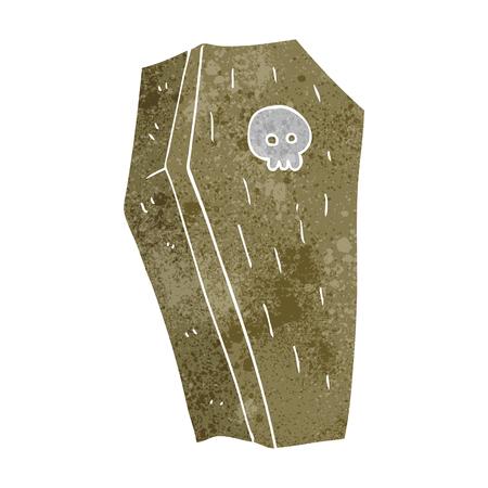 trumna: odręczne retro kreskówki Spooky trumny