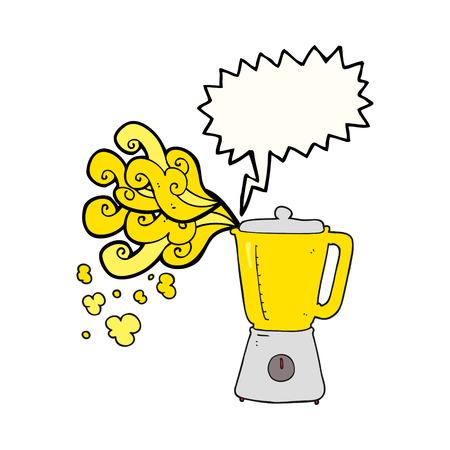 going crazy: freehand drawn speech bubble cartoon blender going crazy Illustration