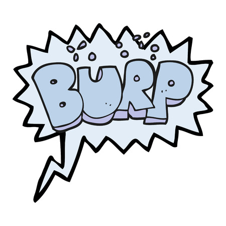 belch: freehand drawn speech bubble cartoon burp text