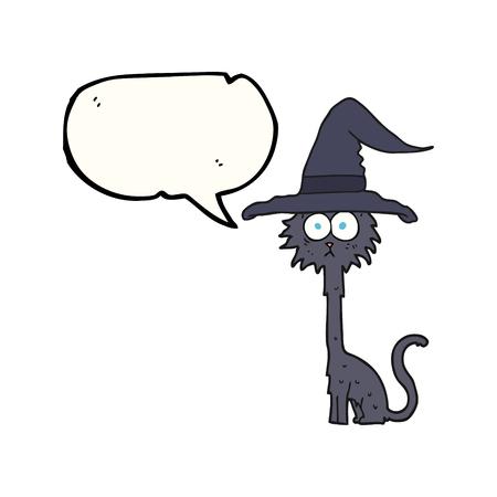 a mano libera disegnato fumetto cartone animato halloween gatto