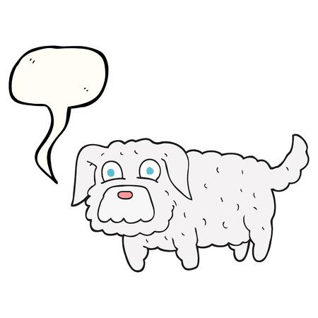 cartoon dog: freehand drawn speech bubble cartoon small dog Illustration