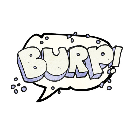 belch: freehand speech bubble textured cartoon burp text