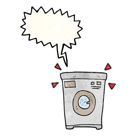 cartoon washing: freehand speech bubble textured cartoon washing machine