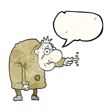 igor: freehand speech bubble textured cartoon igor