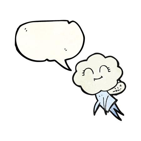 magical: freehand speech bubble textured cartoon magical creature Illustration