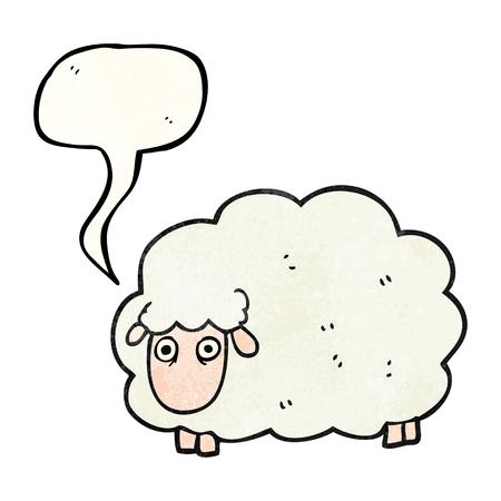 farting: freehand speech bubble textured cartoon farting sheep