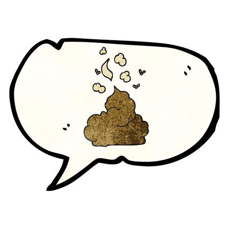 stinking: freehand speech bubble textured cartoon gross poop