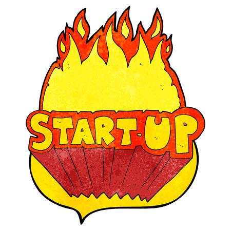 startup: freehand speech bubble textured cartoon startup symbol