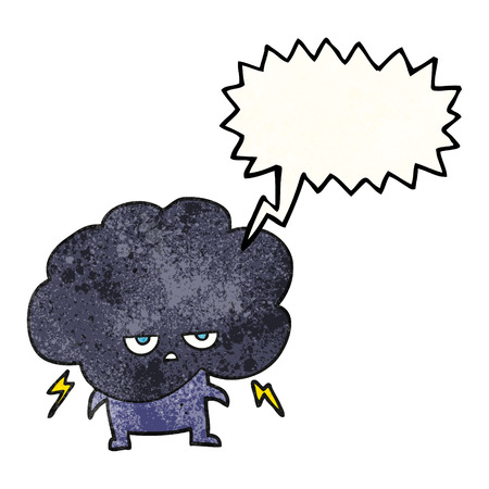stormcloud: freehand speech bubble textured cartoon raincloud