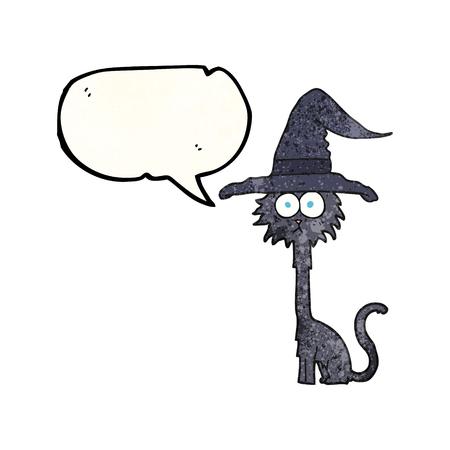 nuvoletta mano libera cartone animato con texture di Halloween cat