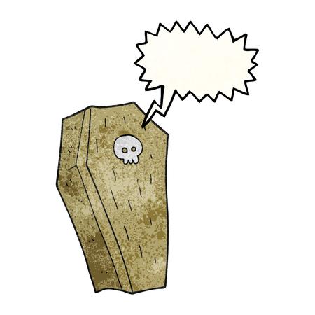 trumna: odręczne bąblu teksturowane kreskówki Spooky trumny