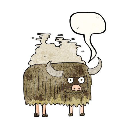 smelly: freehand speech bubble textured cartoon smelly cow