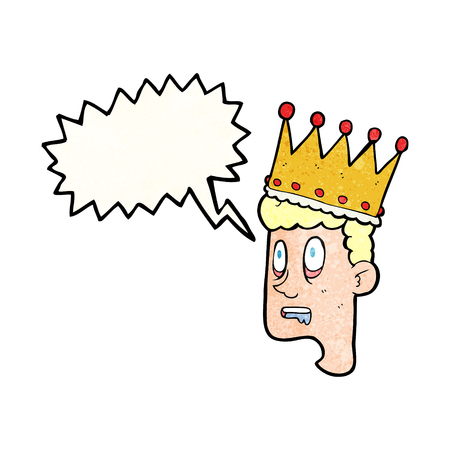 stupor: freehand speech bubble textured cartoon idiot prince