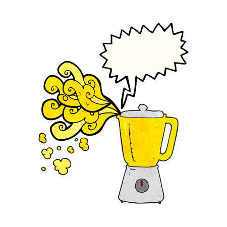going crazy: freehand speech bubble textured cartoon blender going crazy Illustration