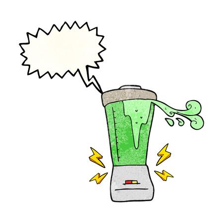 gone: freehand speech bubble textured cartoon blender gone crazy