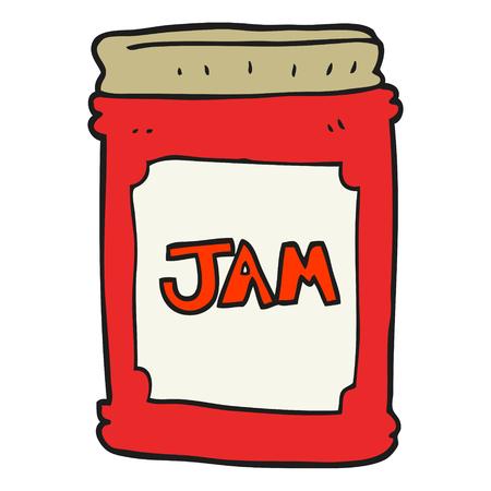jam jar: freehand drawn cartoon jam jar
