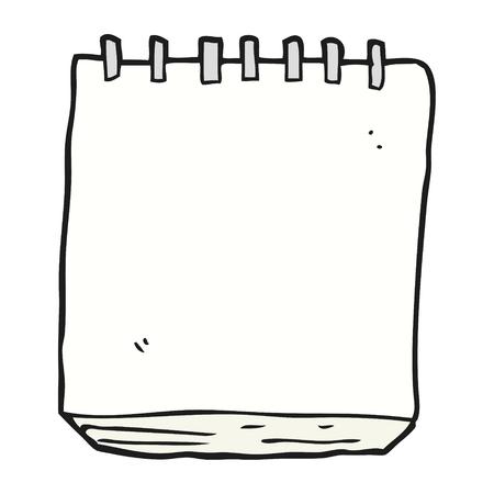 프리 핸드 그린 만화 노트 패드