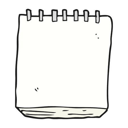uit de vrije hand getekende cartoon notitieblok