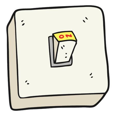 light switch: freehand drawn cartoon light switch