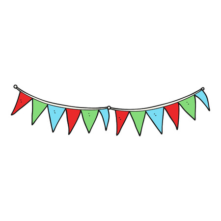 bunting flags: freehand drawn cartoon bunting flags