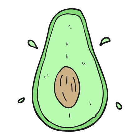 avocado: freehand drawn cartoon avocado