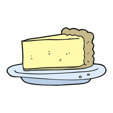 cheesecake: freehand drawn cartoon cheesecake