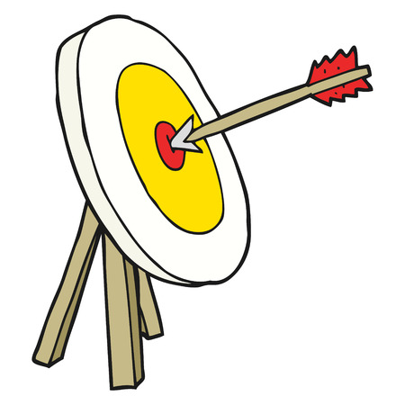 archer cartoon: freehand drawn cartoon archery target