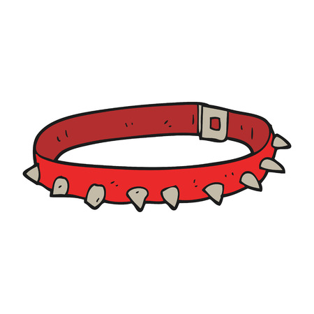 dog collar: freehand drawn cartoon dog collar