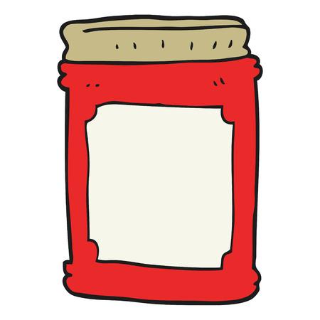 freehand drawn cartoon jam jar