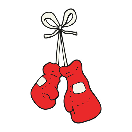 boxing sport: freehand drawn cartoon boxing gloves
