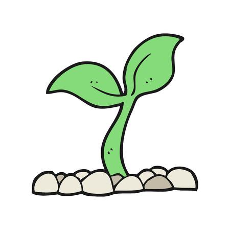 seedling: freehand drawn cartoon seedling