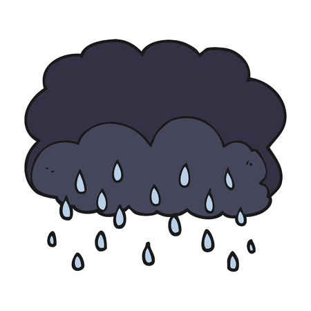 stormcloud: freehand drawn cartoon thundercloud