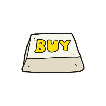 computer key: freehand drawn cartoon computer key buy symbol