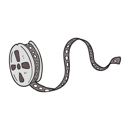 movie film: freehand drawn cartoon movie film