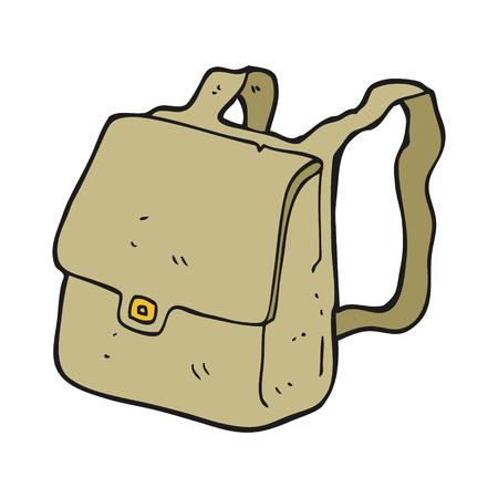 satchel: freehand drawn cartoon satchel