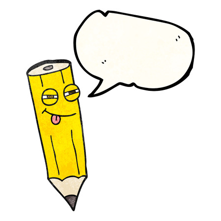 sly: happy freehand drawn texture speech bubble cartoon sly pencil Illustration