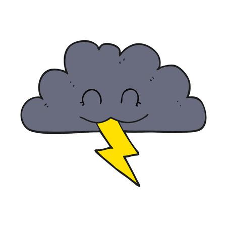 storm cloud: freehand drawn cartoon storm cloud