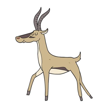 gazelle: freehand drawn cartoon gazelle