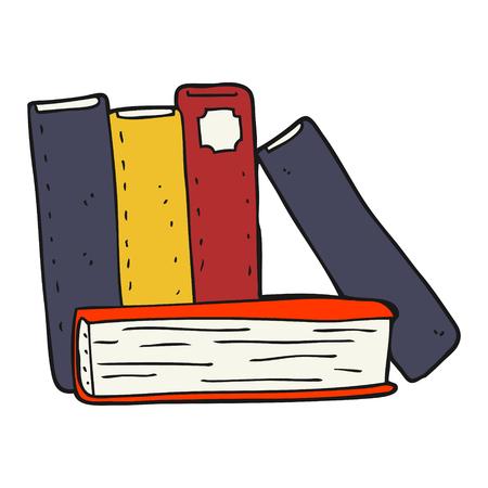 libro caricatura: dibujado a mano alzada libros de dibujos animados