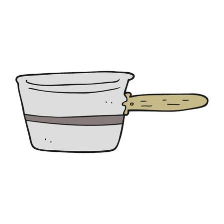saucepan: freehand drawn cartoon saucepan