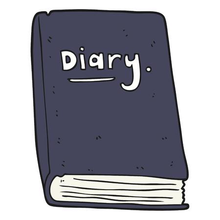 diary: freehand drawn cartoon diary
