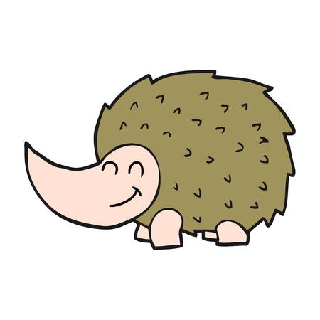 cartoon hedgehog: freehand drawn cartoon hedgehog