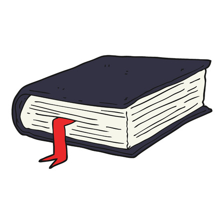 freehand drawn cartoon thick book royalty free cliparts vectors