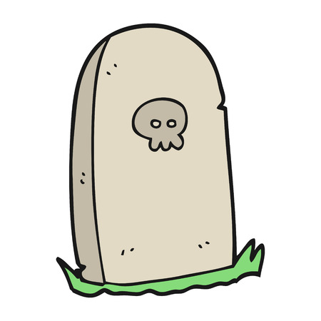 grave: freehand drawn cartoon grave