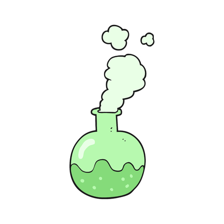 chemical reaction: freehand drawn cartoon chemical reaction