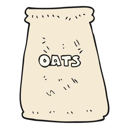 oats: freehand drawn cartoon bag of oats