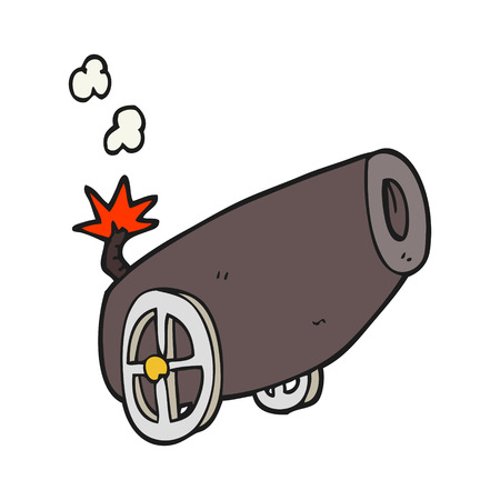 cannon: freehand drawn cartoon cannon
