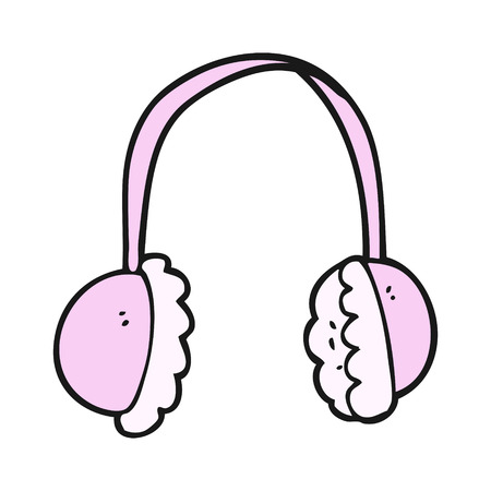ear muffs: freehand drawn cartoon ear muffs Illustration